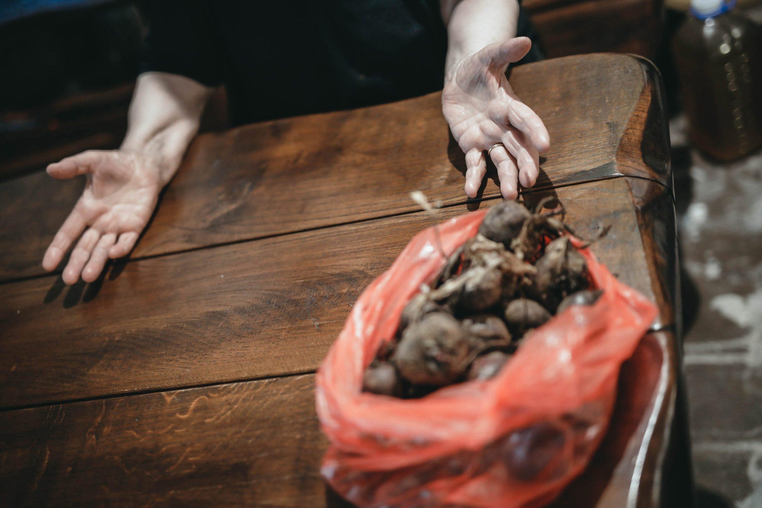 Skradin, 300719. Konoba Mate najstarija konoba u Hrvatskoj koja nije mijenjala svoj izgled od 1958 godine u kojoj se proizvodi i posluzuje samo rakija,vino,prsut,sir i masline. Na fotografiji Anka Pulic,vlasnica konobe Mate. Foto: Danijel Soldo / CROPIX
