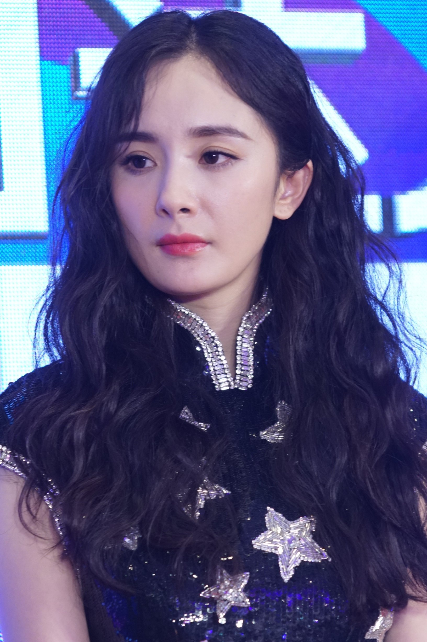 Chinese actress Yang Mi attends a press conference for reality show