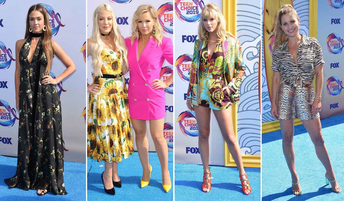 Jessica Alba, Tori Spelling i Jennie Garth, Taylor Swift, Candace Cameron