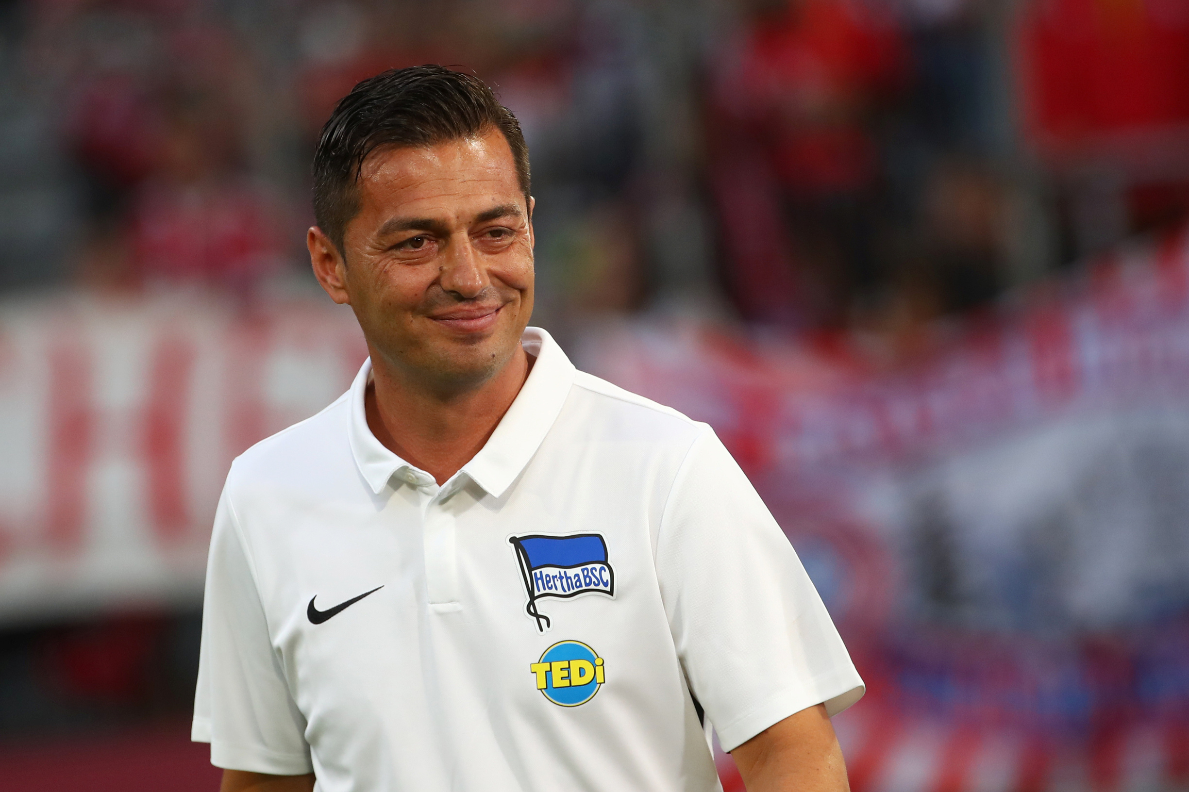 Soccer Football - Bundesliga - Bayern Munich v Hertha Berlin - Allianz Arena, Munich, Germany - August 16, 2019   Hertha BSC coach Ante Covic before the match       REUTERS/Michael Dalder    DFL regulations prohibit any use of photographs as image sequences and/or quasi-video - RC14EC3D2AD0
