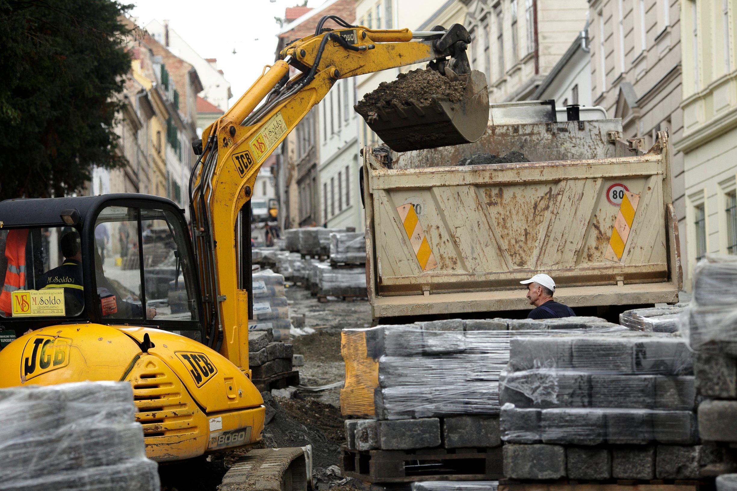 Ilustracija: radovi na obnovi Mesničke ulice