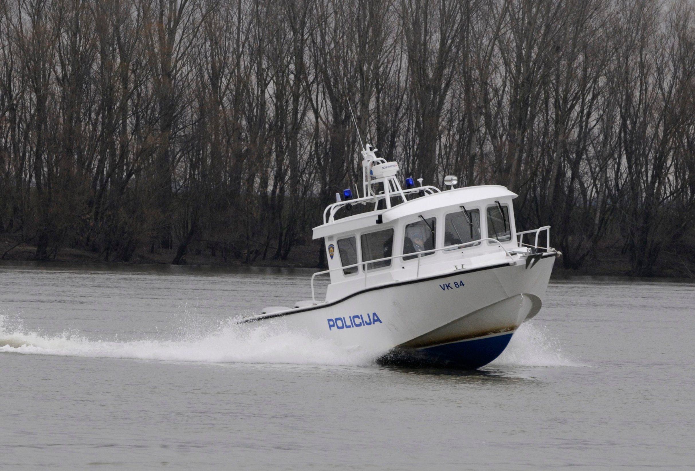 Ilustracija, policija na Dunavu