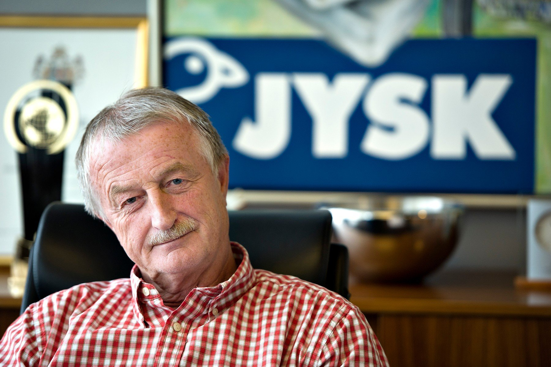 This picture taken on May 30, 2012 in Aarhus, Denmark, shows billionaire Lars Larsen, founder of retail chain Jysk.  Larsen, died at age 71 on August 19, 2019, the company said in a statement., Image: 466065085, License: Rights-managed, Restrictions: Denmark OUT, Model Release: no, Credit line: Profimedia, AFP