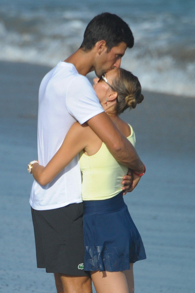 Novak Djokovic drives away rumors of estrangement with his wife Jelena. They walk like two lovers on the shores of the Mediterranean in Marbella, where the champion likes to spend relaxing days. 01 Aug 2019, Image: 461888770, License: Rights-managed, Restrictions: NO Spain, Model Release: no, Credit line: Profimedia, Mega Agency