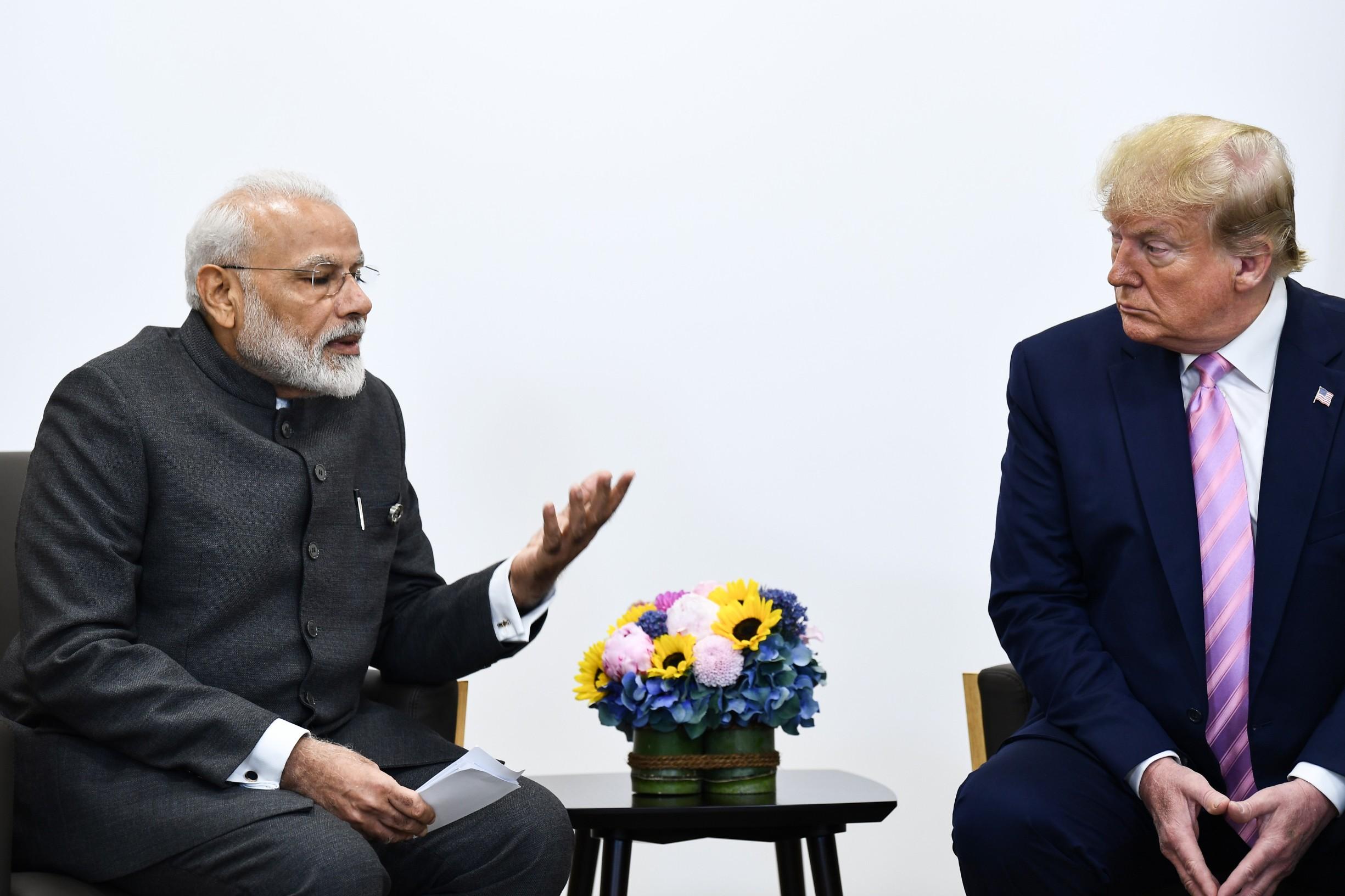 Narendra Modi (lijevo) i Donald Trump (desno)
