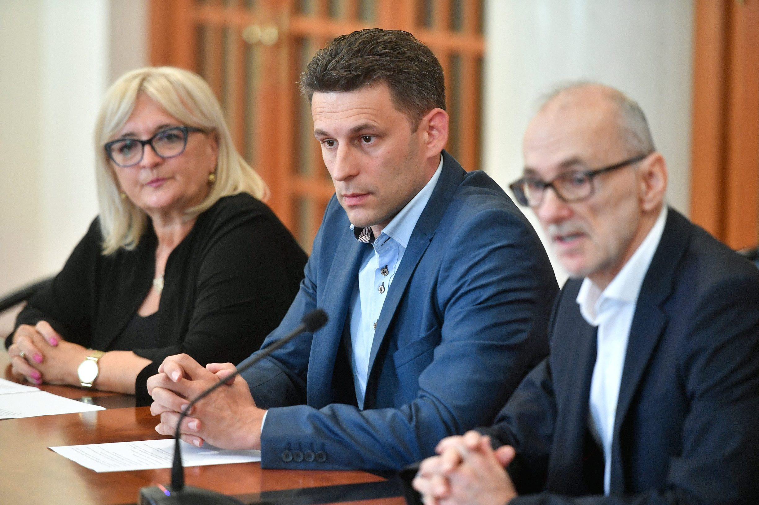 Ines Strenja Linić, Božo Petrov i Robert Podolnjak.