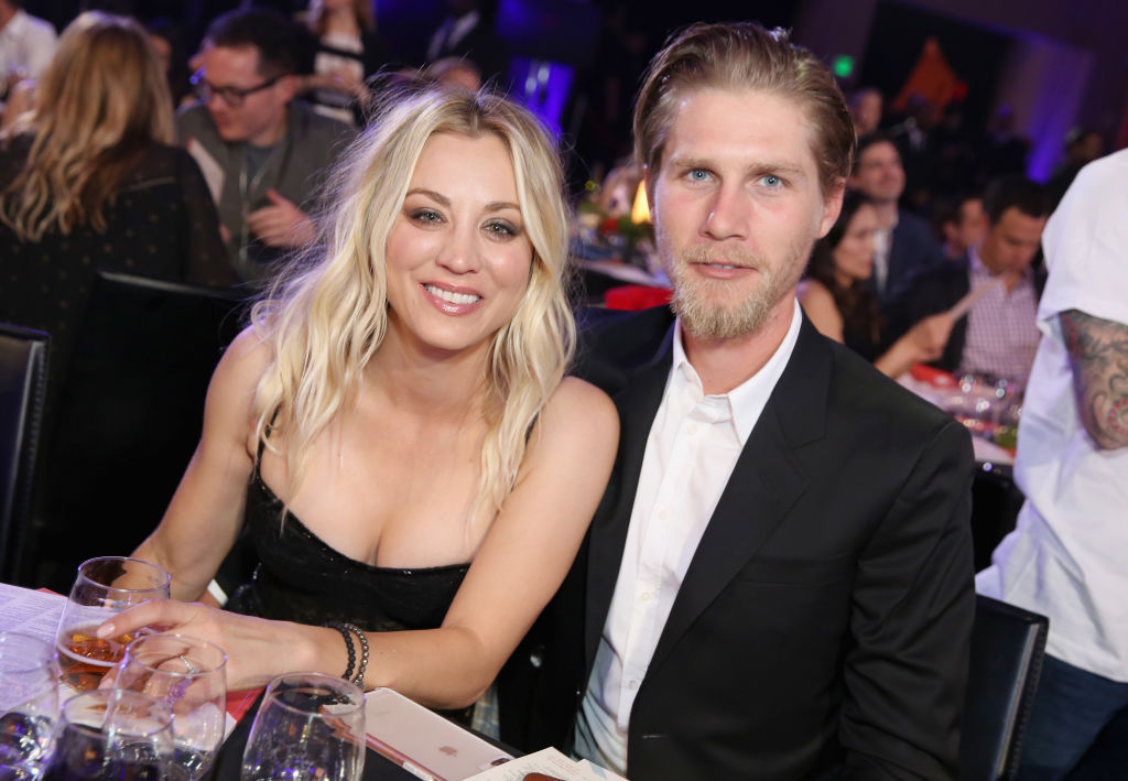 LOS ANGELES, CA - MARCH 24:  Kaley Cuoco and Karl Cook attend Seth Rogen's Hilarity For Charity at Hollywood Palladium on March 24, 2018 in Los Angeles, California.  (Photo by Rachel Murray/Getty Images for Netflix)