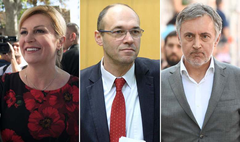 Kolinda Grabar-Kitarović, Davor Ivo Stier, Miroslav Škoro