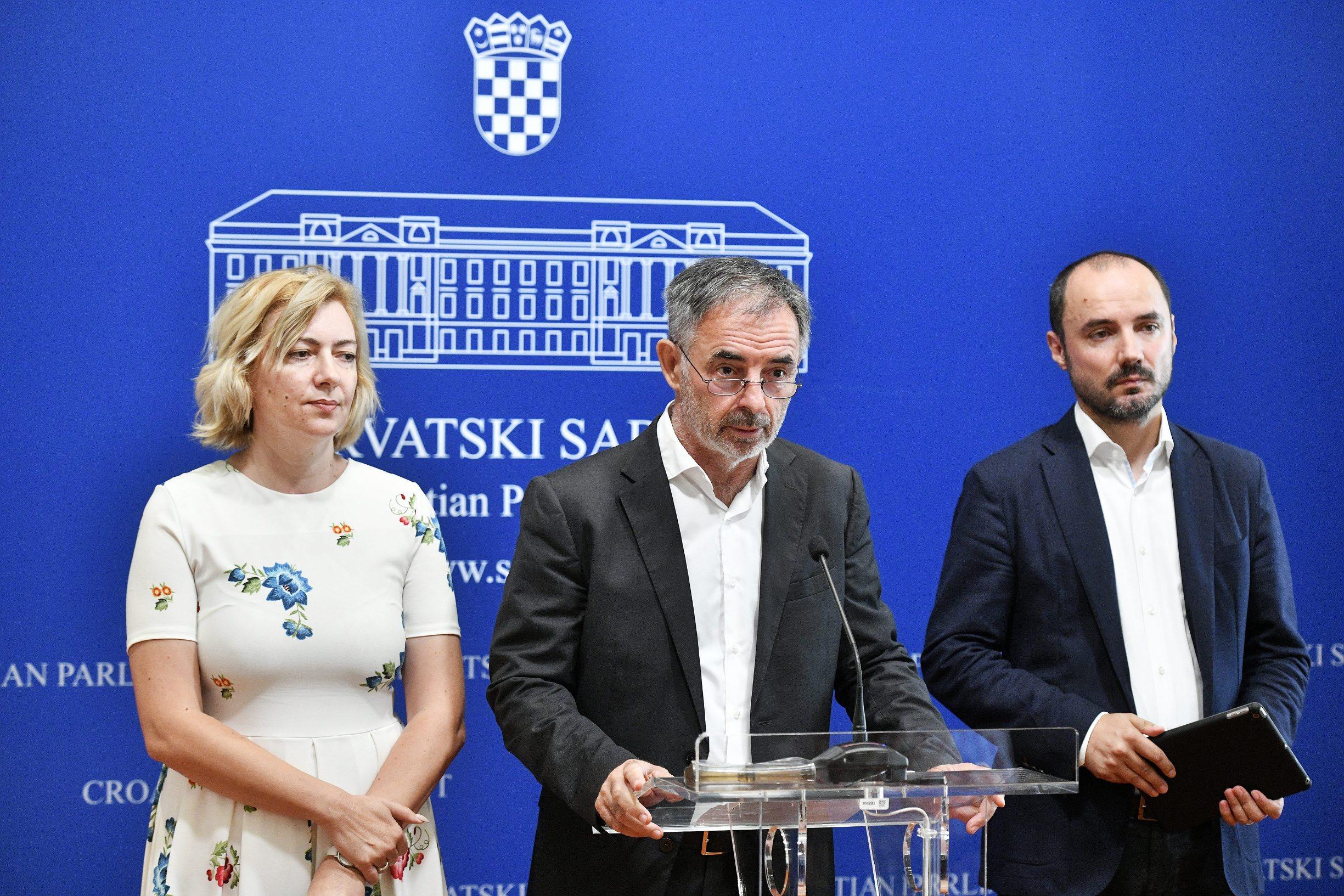 Dragana Jeckov, Milorad Pupovac i Boris Milošević