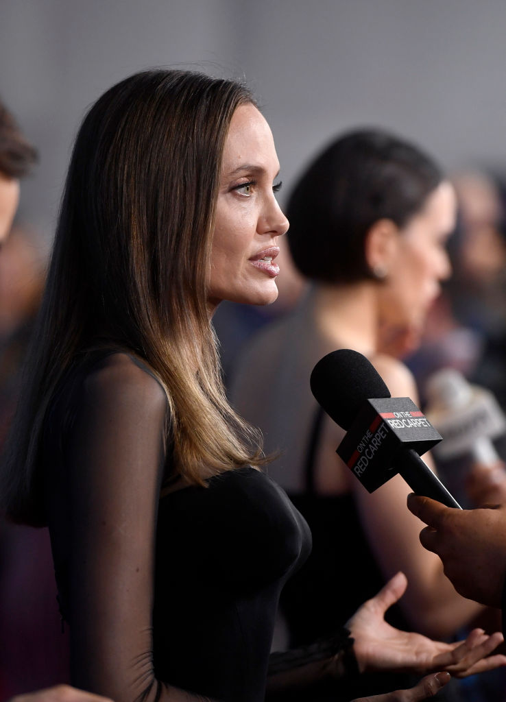 ANAHEIM, CALIFORNIA - AUGUST 24: Angelina Jolie attends Go Behind The Scenes with Walt Disney Studios during D23 Expo 2019 at Anaheim Convention Center on August 24, 2019 in Anaheim, California. (Photo by Frazer Harrison/Getty Images)