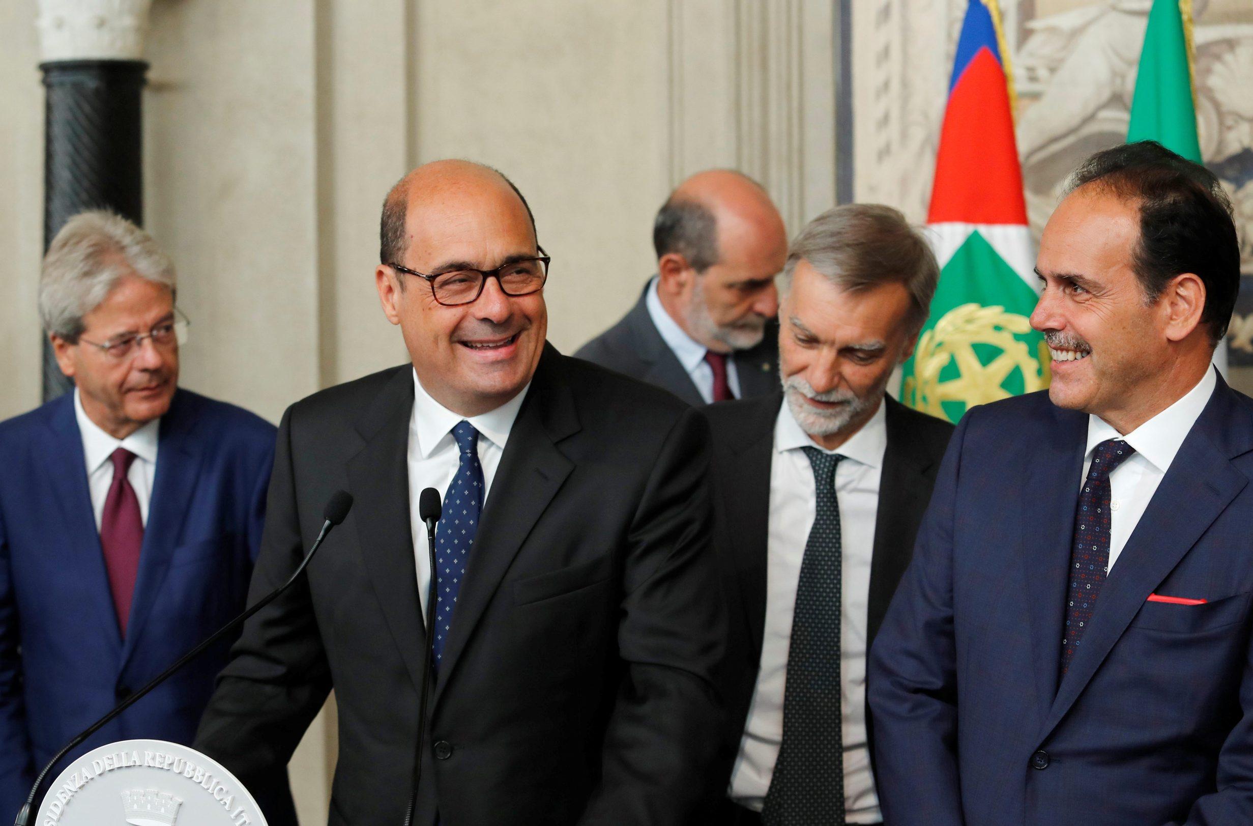 Nicola Zingaretti, Andrea Marcucci, Graziano Delrio i Paolo Gentiloni