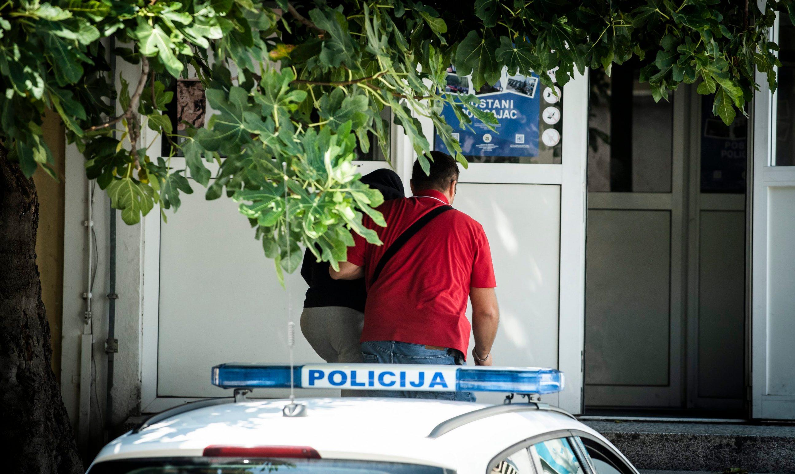 Sibenik, 280819. U tijeku je privodjenje osumnjicenih za nedavne napade u Kninu i Djevrskama. Foto: Nikolina Vukovic Stipanicev / CROPIX