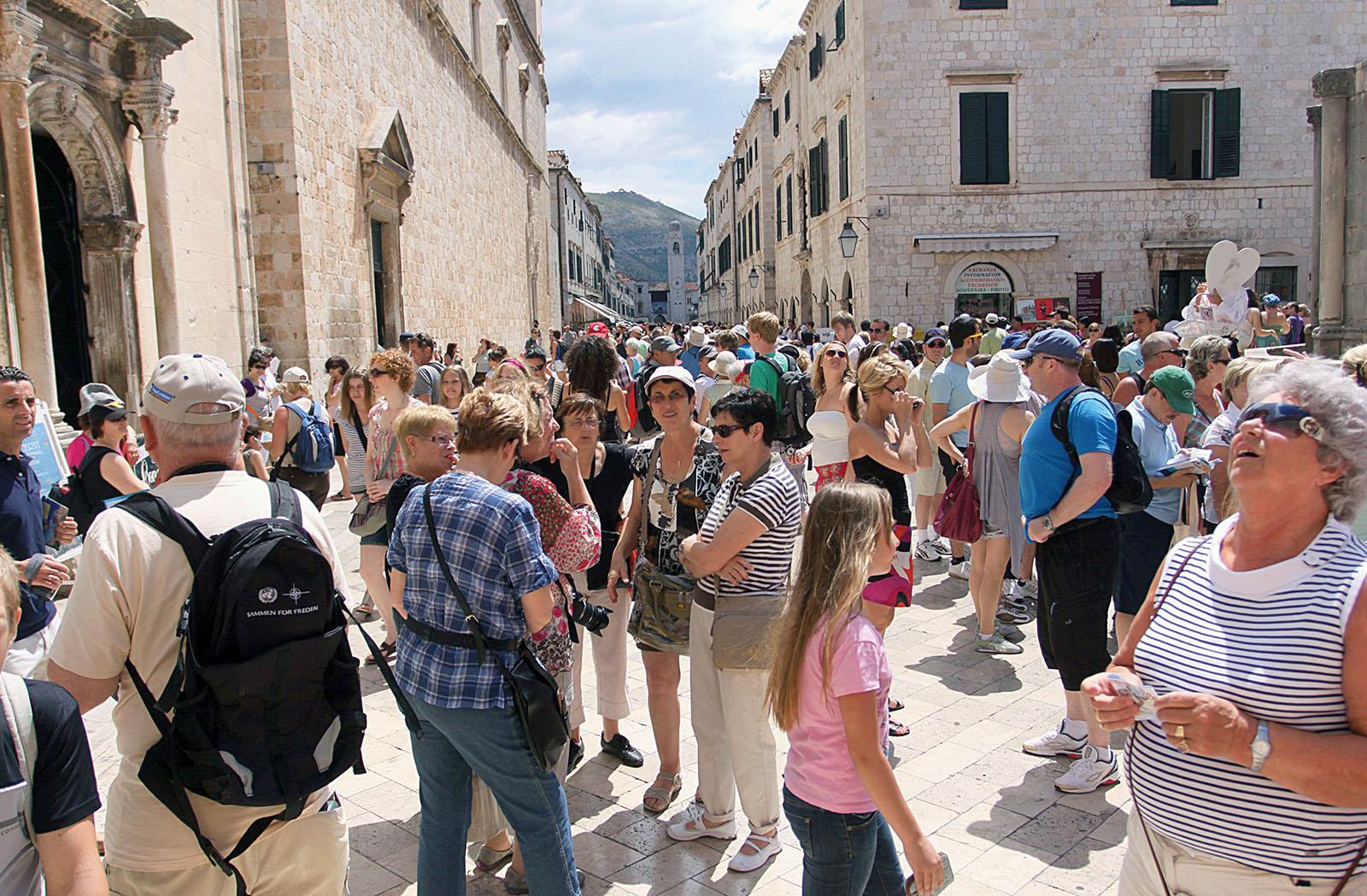 Turisti u Dubrovniku