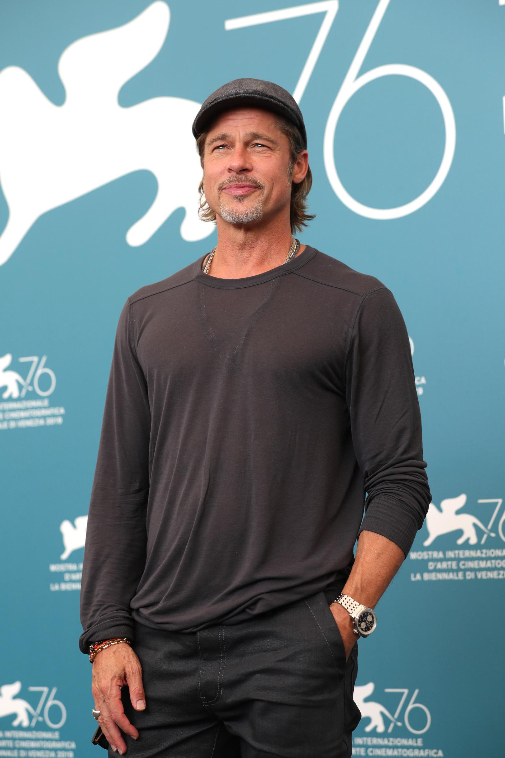 VENICE, ITALY - AUGUST 29:  Brad Pitt attends