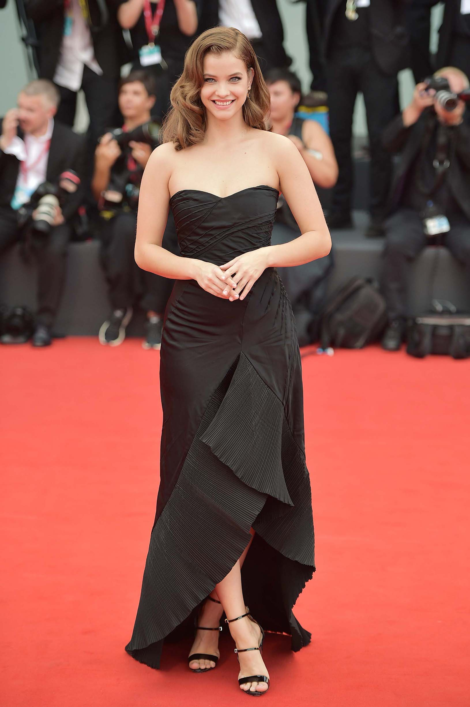 VENICE, ITALY - AUGUST 28:  Barbara Palvin walks the red carpet ahead of the Opening Ceremony and the