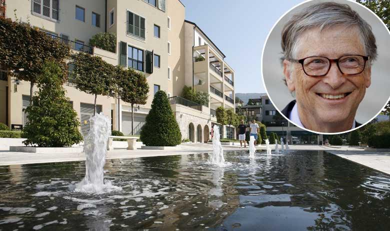 Porto Montenegro; u krugu: Bill Gates