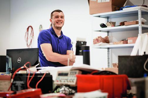 Split, 210819. Mladi solinski inovator i uspjesni poduzetnik Ivan Mrvos. Foto: Sasa Buric / CROPIX