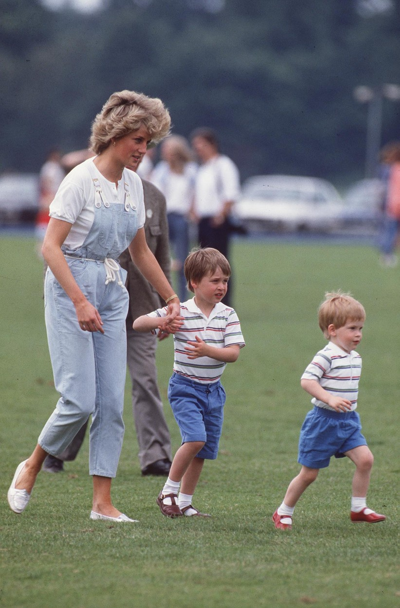 HRH PRINCESS OF WALES With her sons Left: HRH PRINCE WILLIAM and Right: HRH PRINCE HARRY at Smith's Lawn, Windsor, Image: 22089128, License: Rights-managed, Restrictions: For queries call UPPA + 44 (0)20 7421 6000, Model Release: no, Credit line: Profimedia, Avalon Editorial