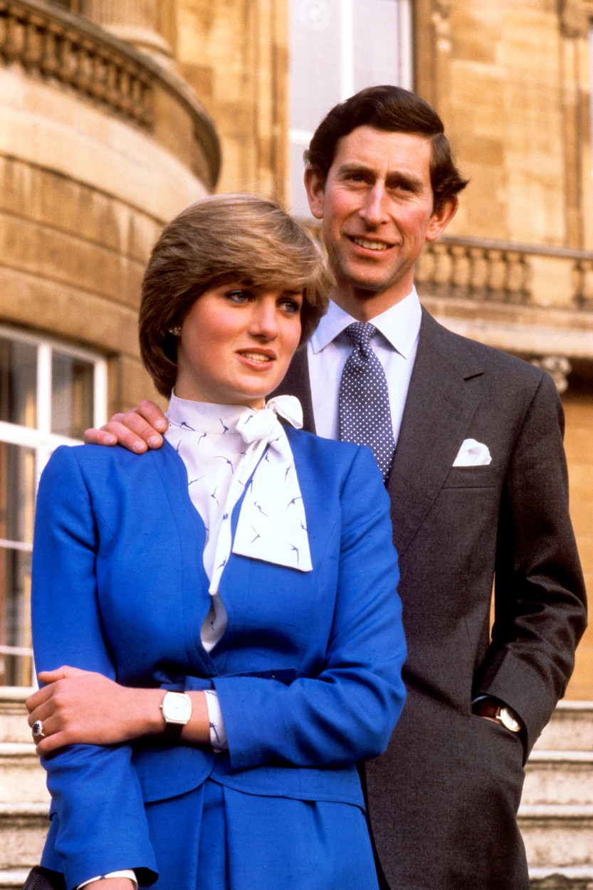 PRINCE CHARLES AND LADY DIANA SPENCER AT BUCKINGHAM PALACE AFTER THE ANNOUNCEMENT OF THEIR ENGAGEMENT., Image: 105897933, License: Rights-managed, Restrictions: , Model Release: no, Credit line: Profimedia, Press Association