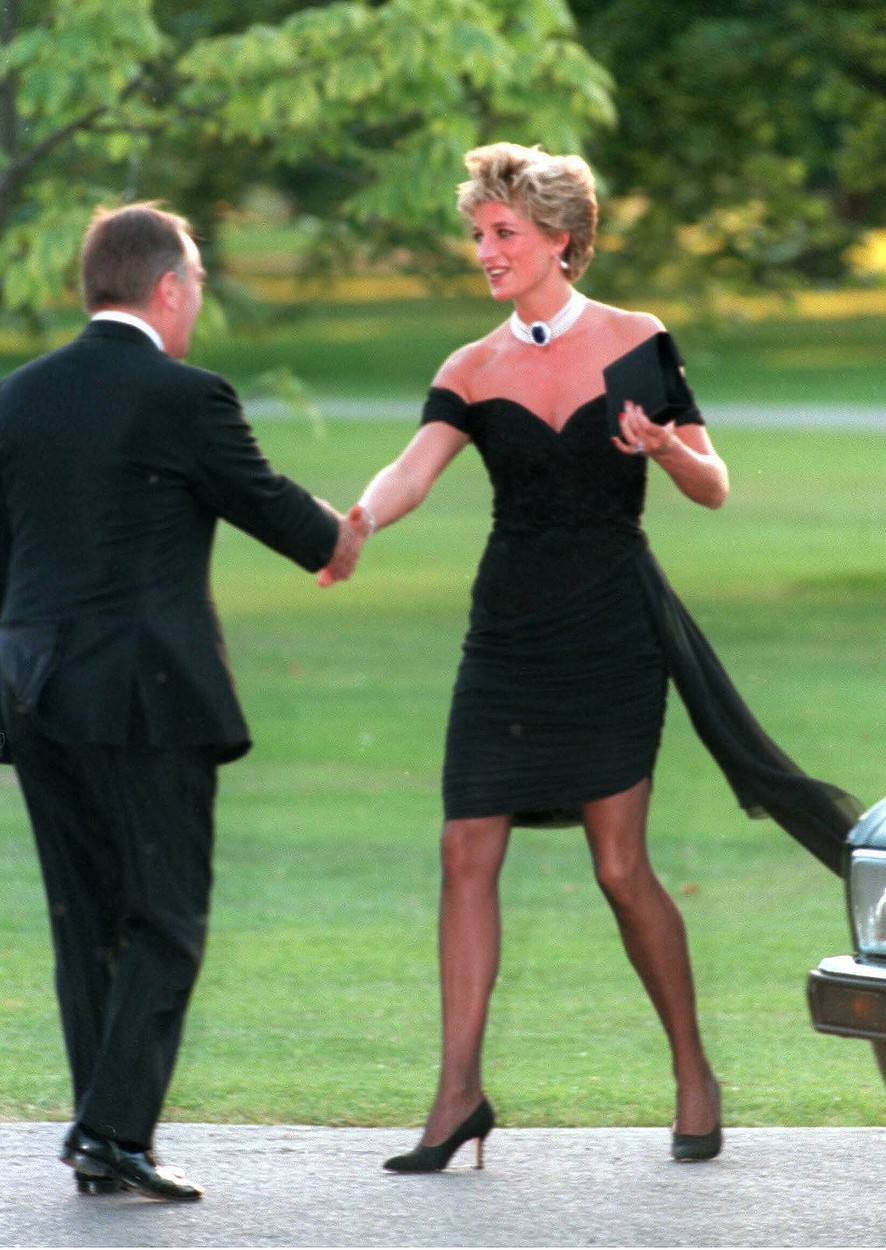 November 20, 1994:  File photo of Diana, Princess of Wales, wearing a black dress, commissioned from Christina Stambolian, attends the Vanity Fair party at the Serpentine Gallery in 1994. The famous black dress was worn on the same evening that Prince Charles made his notorious adultery admission on television. in London, UK., Image: 140655223, License: Rights-managed, Restrictions: , Model Release: no, Credit line: Profimedia, INSTAR Images
