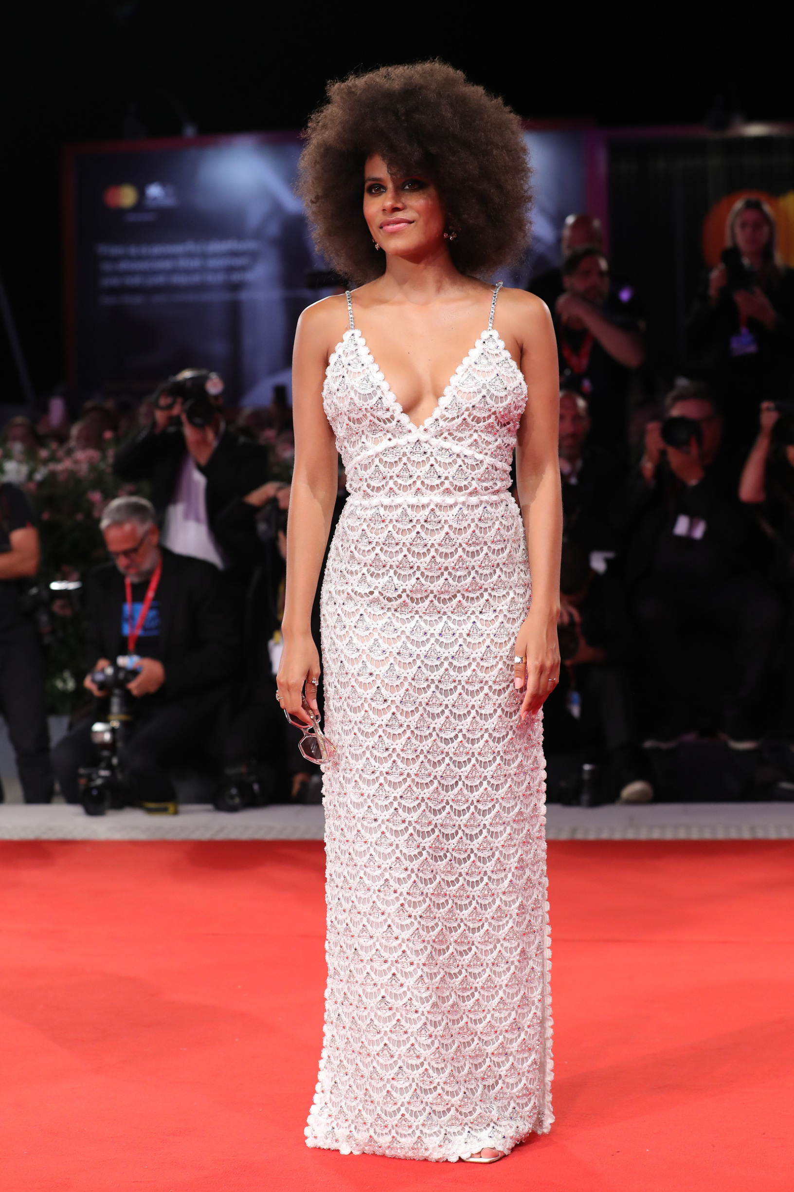 VENICE, ITALY - AUGUST 30:  Zazie Beetz walks the red carpet ahead of the