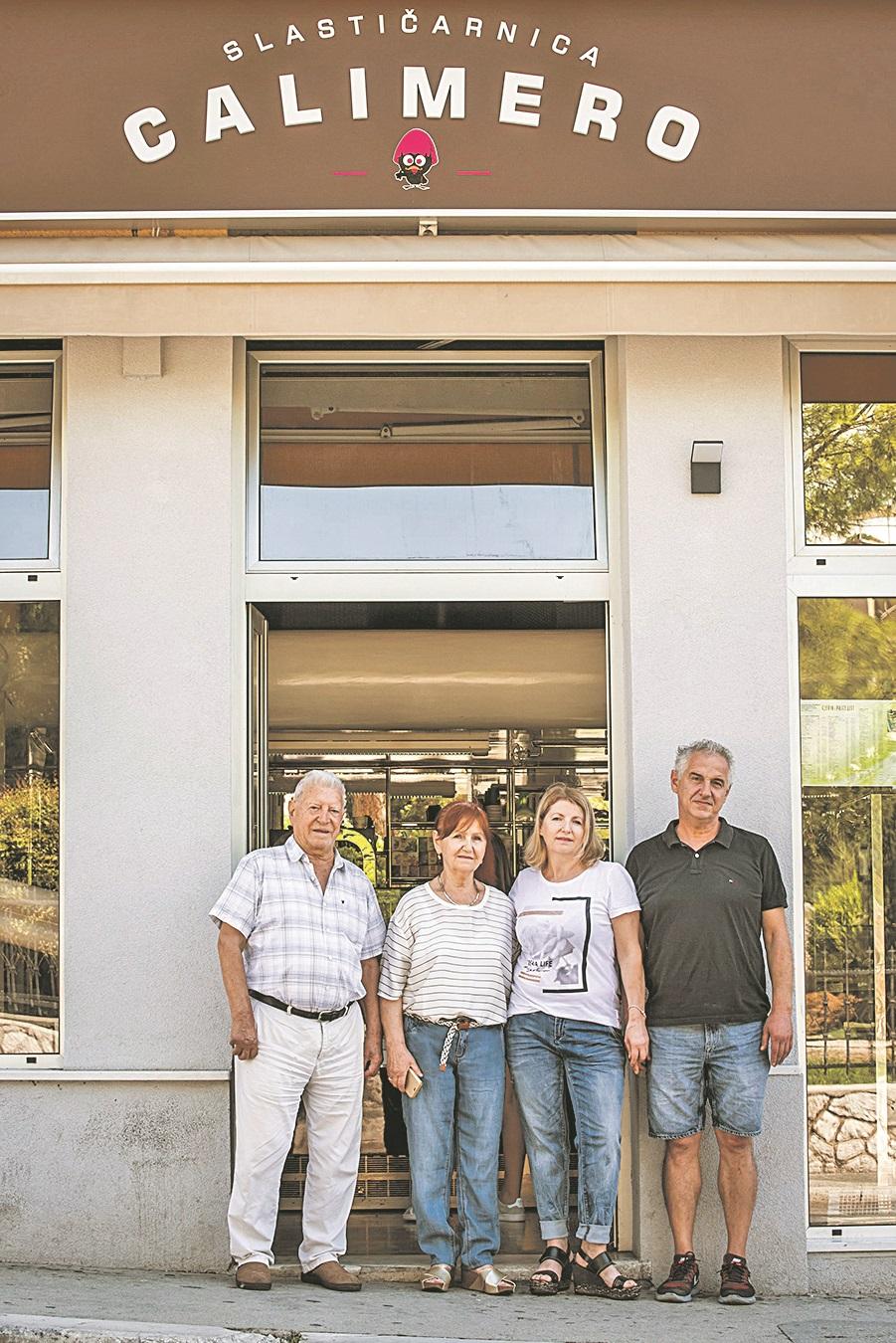 Sibenik, 030918. Obitelj Ademi, vlasnici slasticarne Calimero. Foto: Nikolina Vukovic Stipanicev / CROPIX