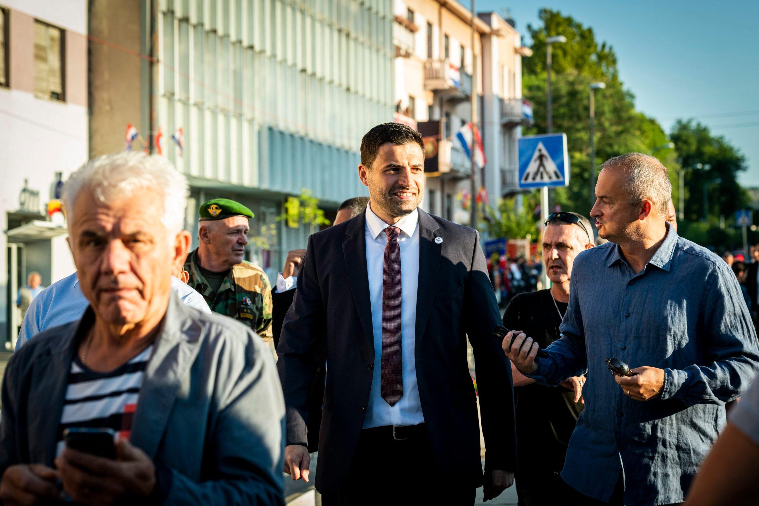 Na fotografiji: Davor Bernardić u Kninu