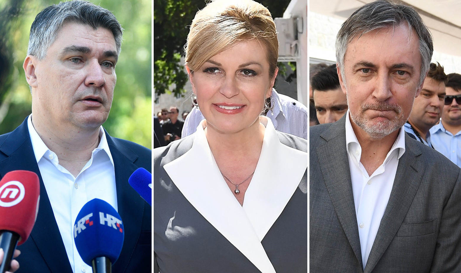 Zoran Milanović, Kolinda Grabar Kitarović i Miroslav Škoro