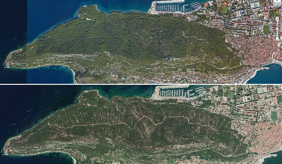 Prije (gore) i poslije (dolje)