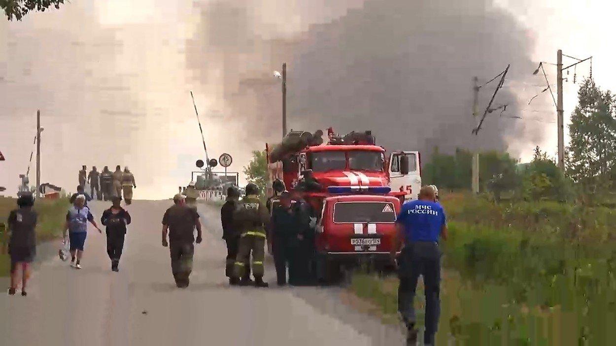 Ilustracija: Eksplozija u skladištu streljiva u području Krasnojara prije nekoliko dana