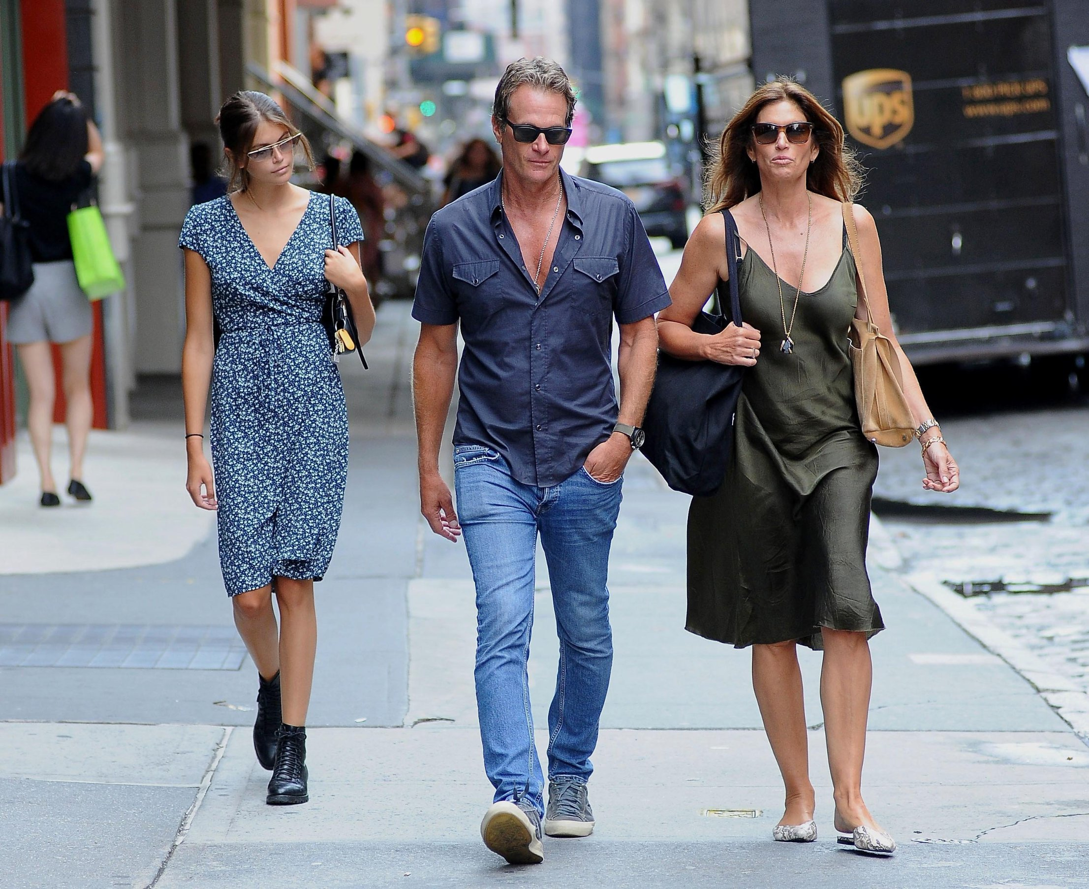 -New York, NY - 20190806-Cindy Crawford, Daughter Kaia Gerber and Husband Rande Gerber Take a Walk in Soho  -PICTURED: Cindy Crawford, Kaia Gerber and Rande Gerber  -, Image: 462743935, License: Rights-managed, Restrictions: , Model Release: no, Credit line: Profimedia, INSTAR Images