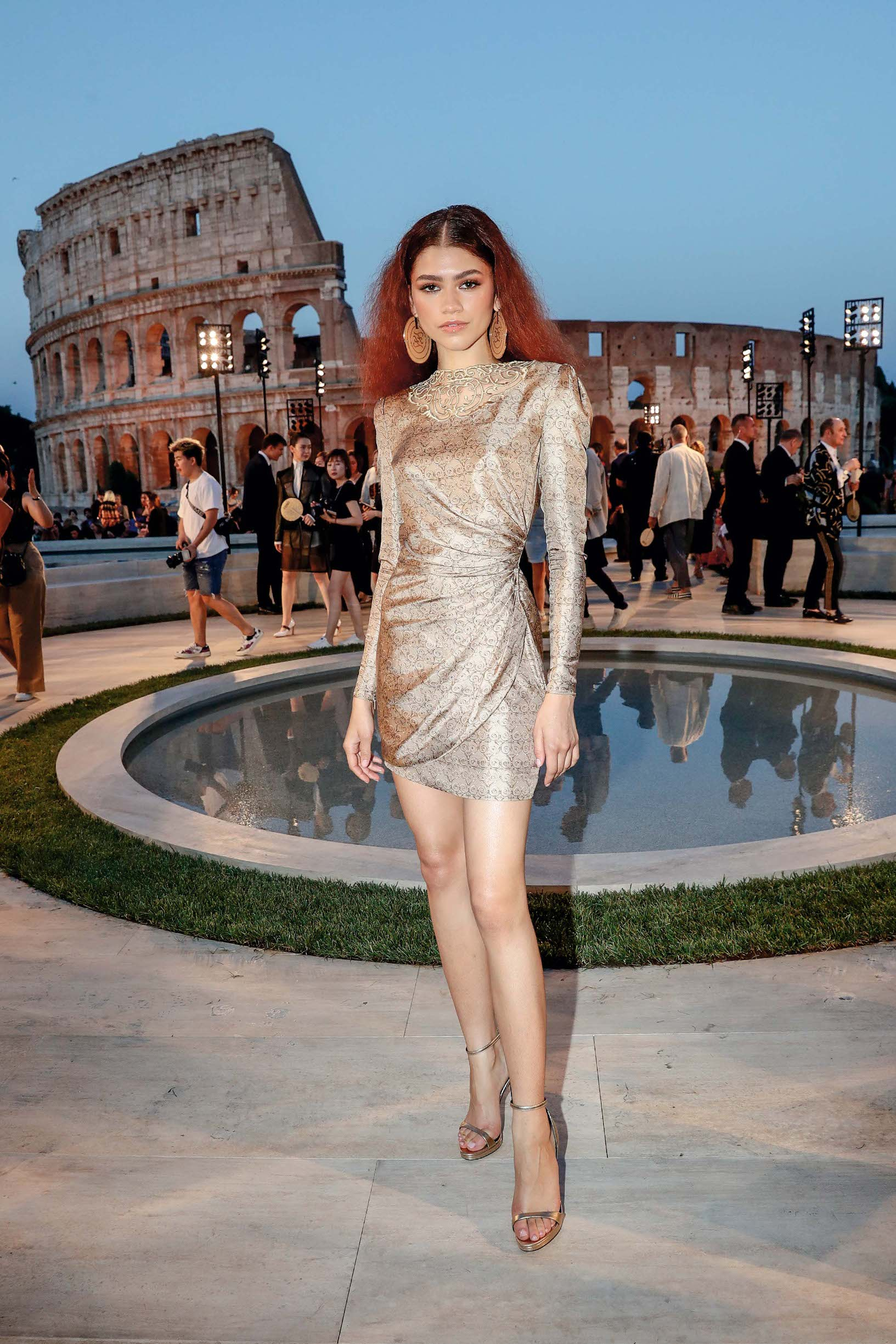 ROME, ITALY - JULY 04: Zendaya attends the Cocktail at Fendi Couture Fall Winter 2019/2020 on July 04, 2019 in Rome, Italy. (Photo by Vittorio Zunino Celotto/Getty Images for Fendi)