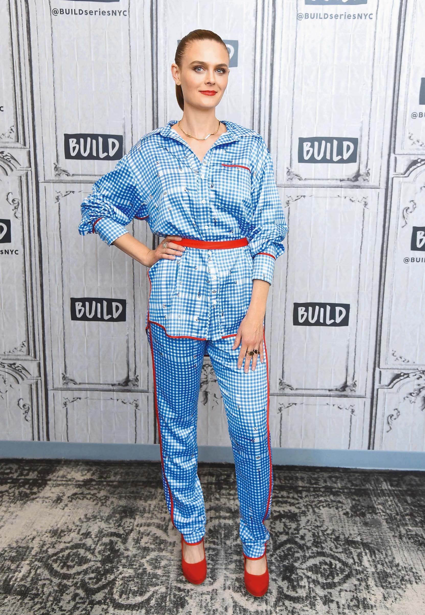 NEW YORK, NEW YORK - JULY 16:  Actress Emily Deschanel visits the Build Series to discuss season 4 of the TNT series 'Animal Kingdom' at Build Studio on July 16, 2019 in New York City. (Photo by Gary Gershoff/Getty Images)