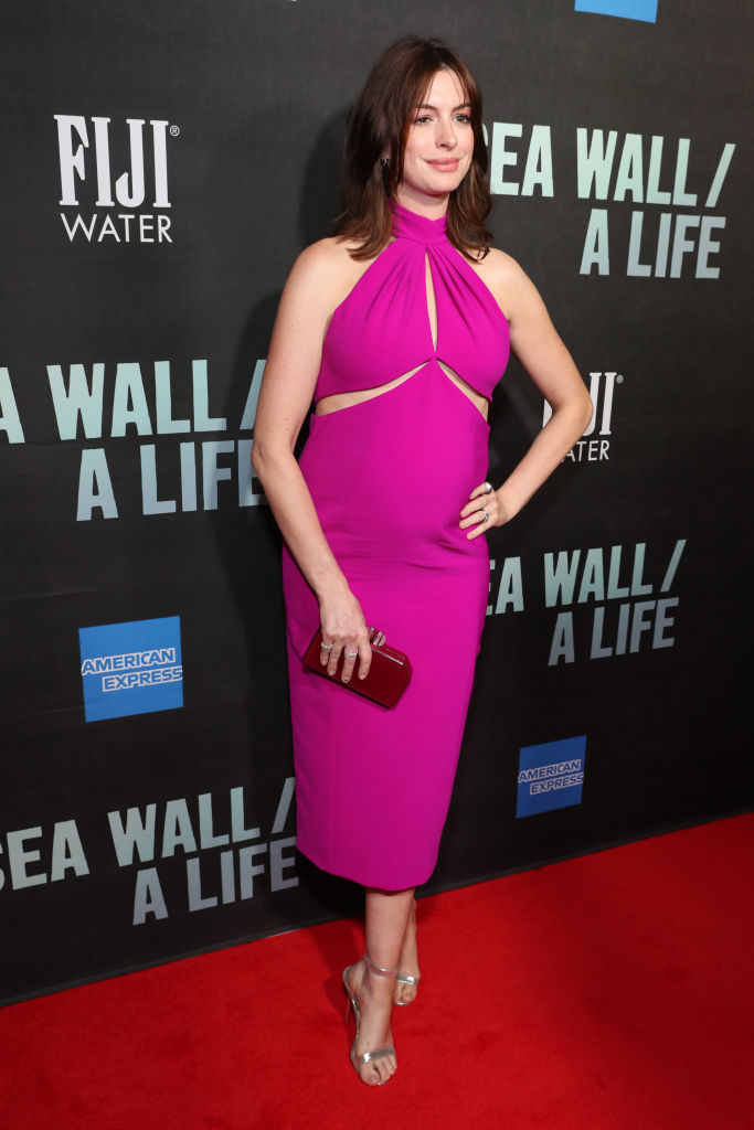 NEW YORK, NEW YORK - AUGUST 08: Anne Hathaway attends FIJI Water At Sea Wall / A Life Opening Night On Broadway on August 08, 2019 in New York City. (Photo by Cindy Ord/Getty Images for FIJI Water)