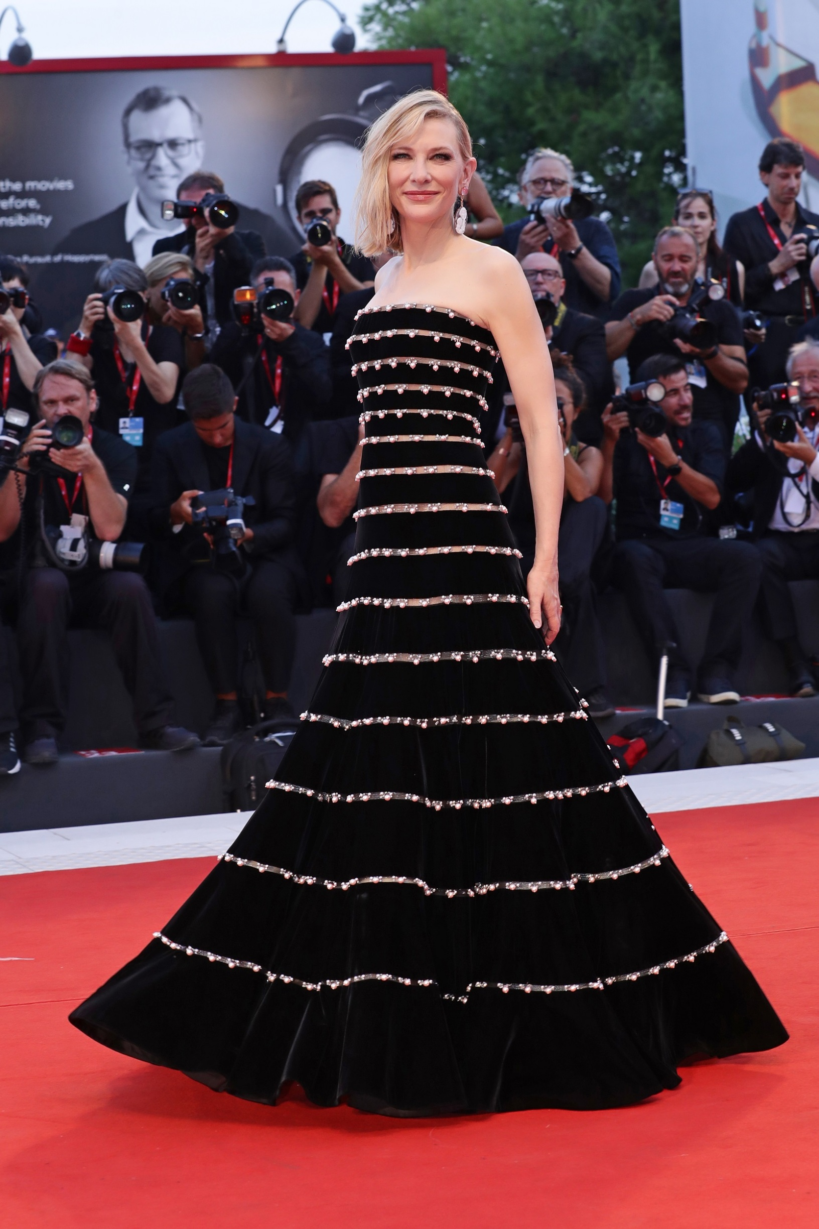 VENICE, ITALY - AUGUST 31: Cate Blanchett walks the red carpet ahead of the