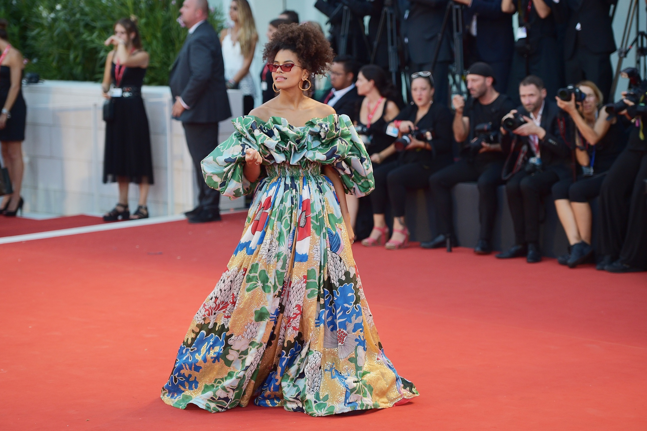 VENICE, ITALY - AUGUST 31: Zazie Beetz walks the red carpet ahead of the