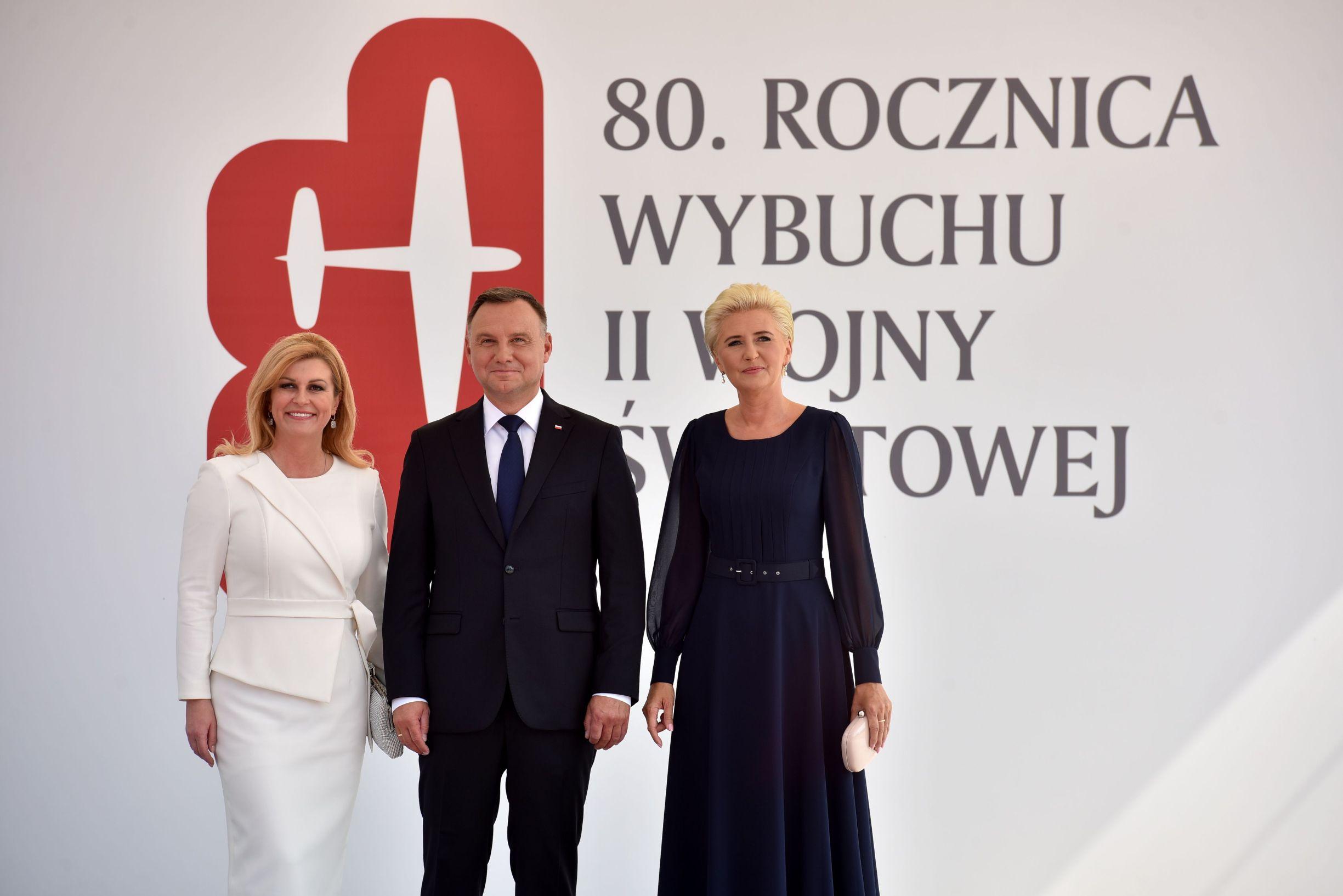 Kolinda Grabar-Kitarović s poljskim predsjednikom Andrzejem Dudom i njegovom suprugom Agatom Kornhauser-Dudom