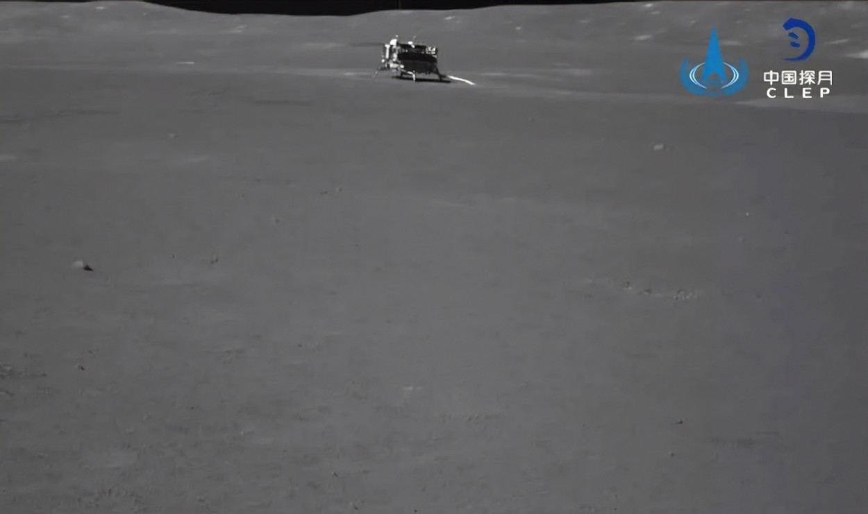 This image, released on July 9, 2019, by the China National Space Administration's Chinese Lunar Exploration Program, shows the Chang'e-4 lander as it explores the surface on the far side of the moon. Photo by /UPI, Image: 465788921, License: Rights-managed, Restrictions: , Model Release: no, Credit line: Profimedia, UPI