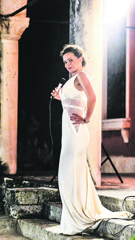 Cavtat, 050814. Operna pjevacica Sandra Bagaric sa suprugom Darkom Domitrovicem odrzala je koncert u sklopu Cavtatskog ljeta na otvorenome u dvoristu Vile Banac. Foto: Tonci Plazibat / CROPIX