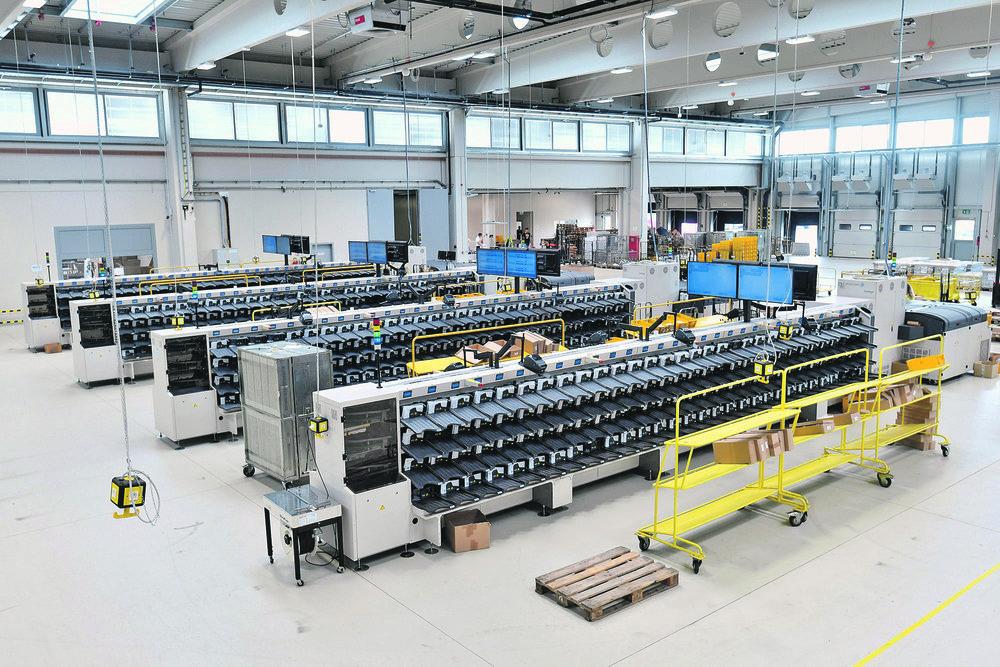 Velika Gorica, 290819. Novi logisticki centar Hrvatske poste vrijedan 350 milijuna kuna. Foto: Boris Kovacev / CROPIX