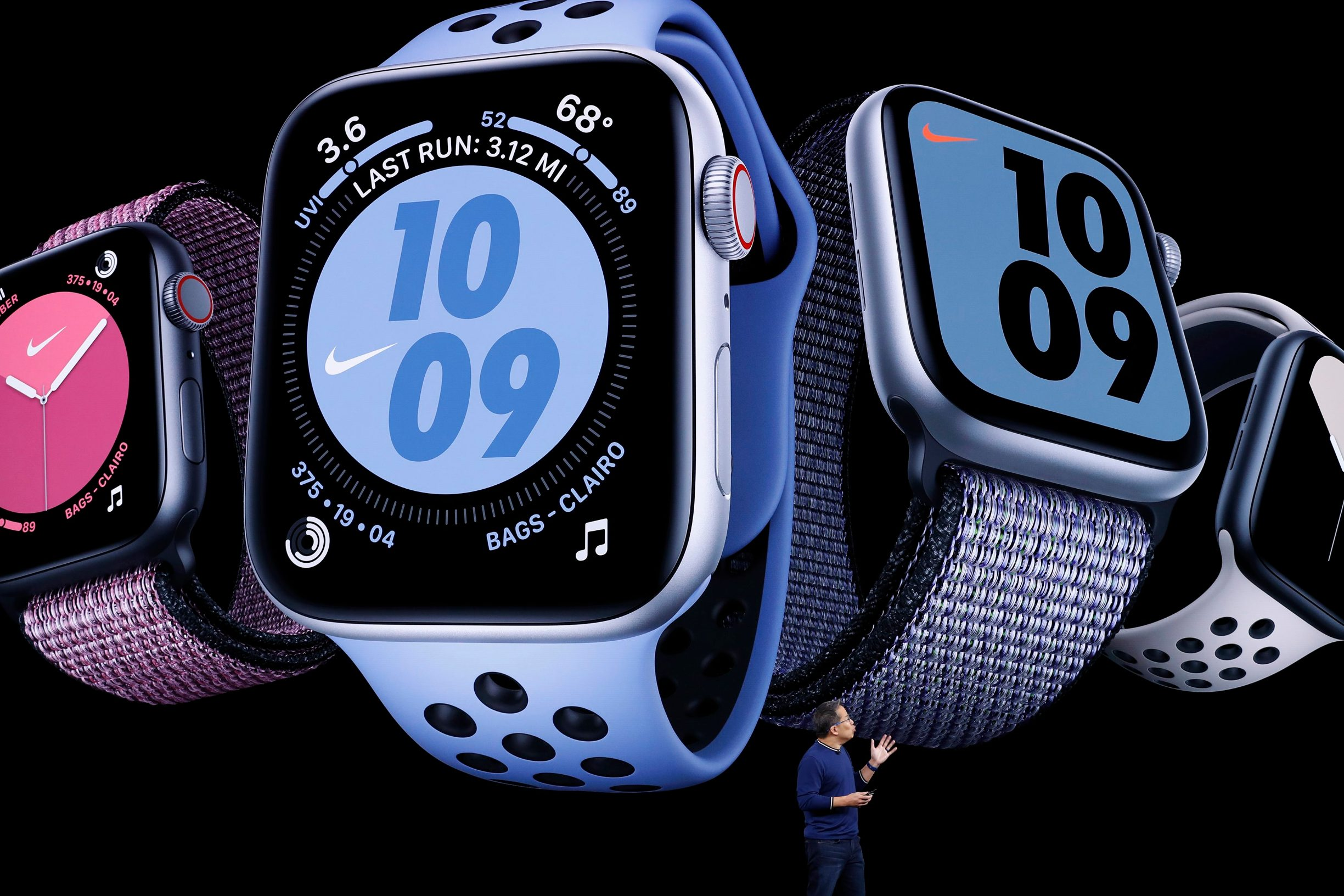 Stan Ng presents the new Apple Watch at an Apple event at their headquarters in Cupertino, California, U.S. September 10, 2019. REUTERS/Stephen Lam