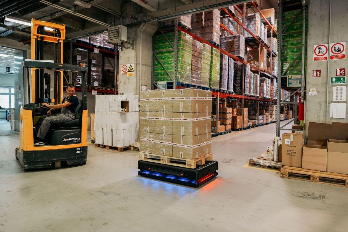 Robot Gideon Brothersa u distribucijskom centru Orbica