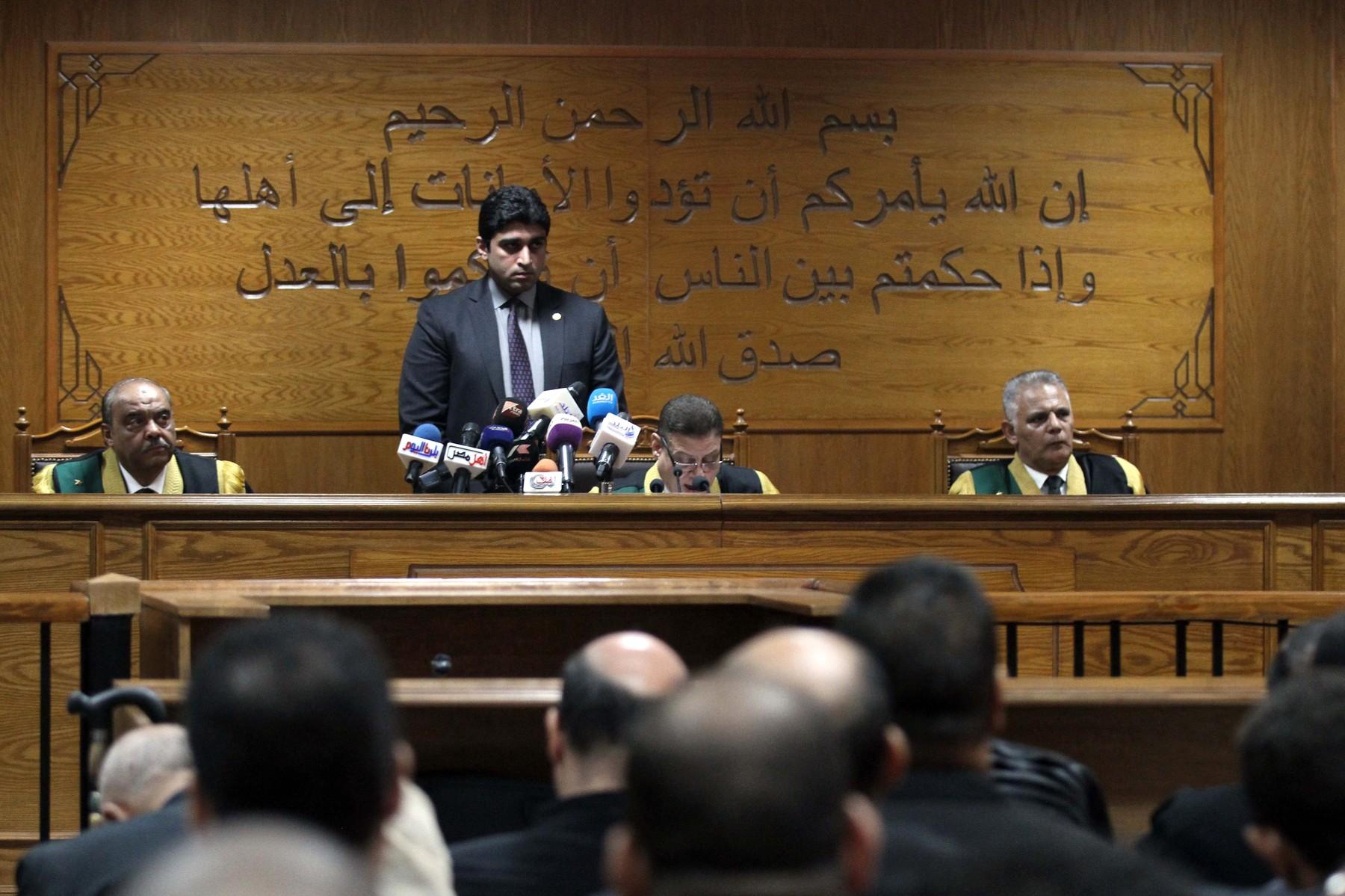 Sudac Mohamed Shirin Fahmi pri izricanju kazne
