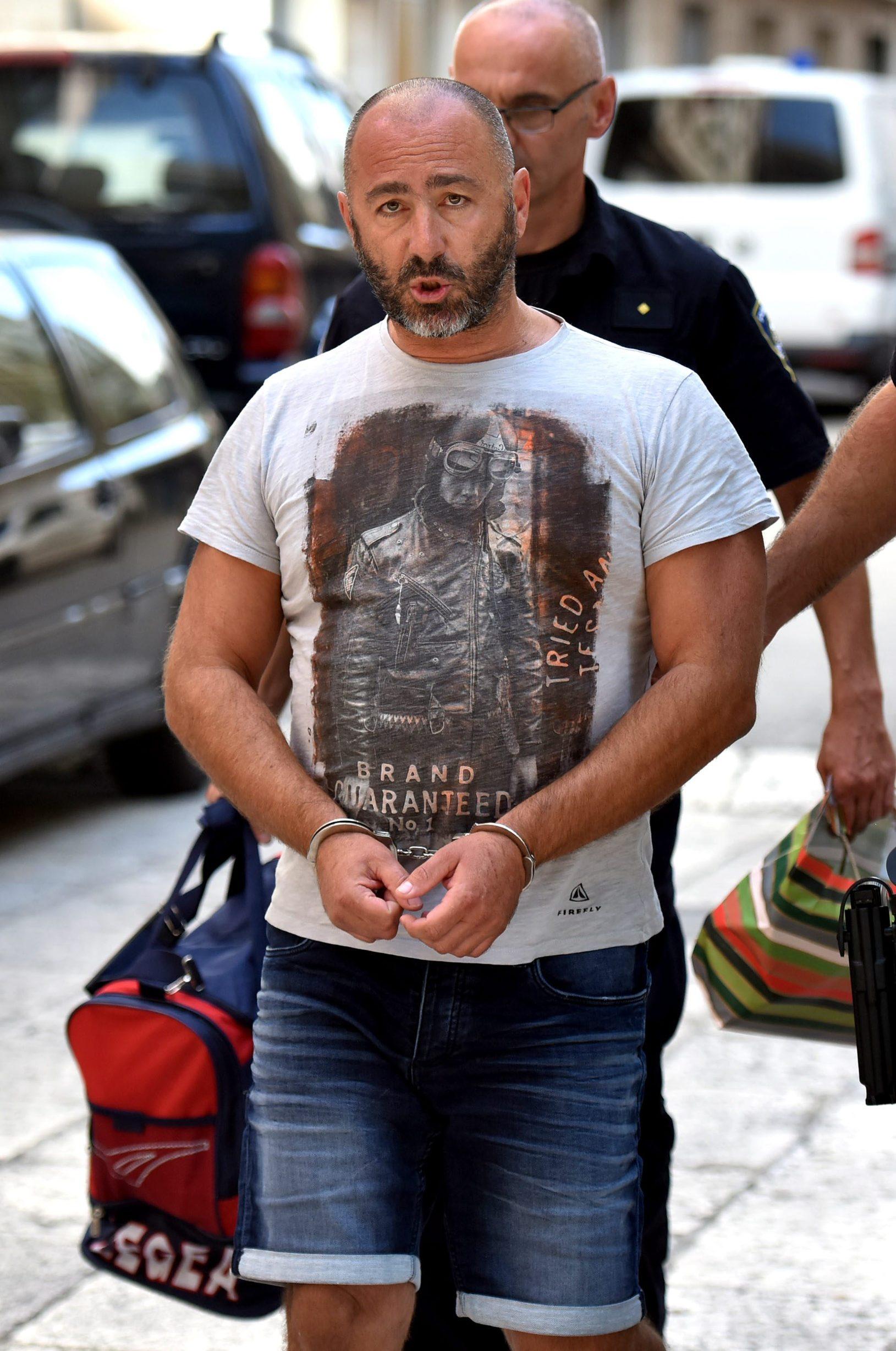 Zadar, 120919. Danas poslijepodne je istraznom sucu zadarskog Zupanijskog suda priveden Zadranin osumnjicen za preprodaju kokaina. Foto: CROPIX