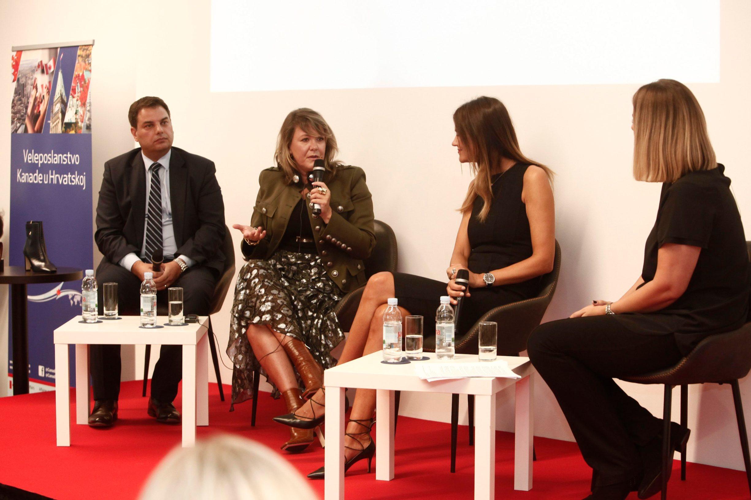 Joe Bašić, Emily Nicholson i Lada Tedeschi Fiorio u panel raspravi Ravnopravnost prilika radi ostvarivanja najboljih poslovnih rezultata