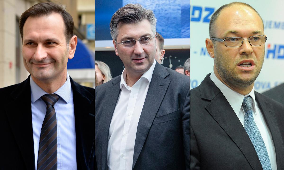 Miro Kovač, Andrej Plenković, Davor Ivo Stier