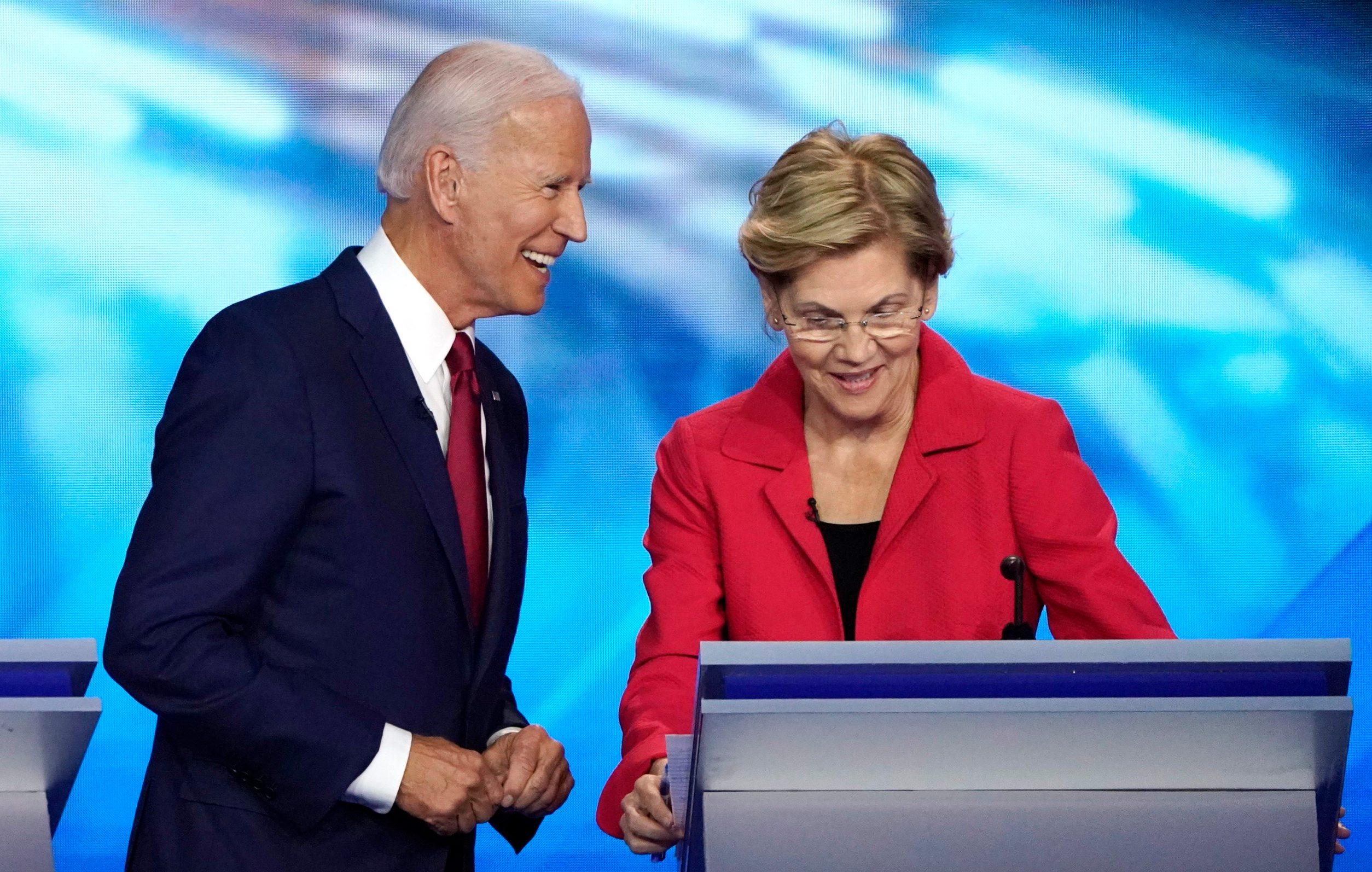 Joe Biden i Elizabeth Warren