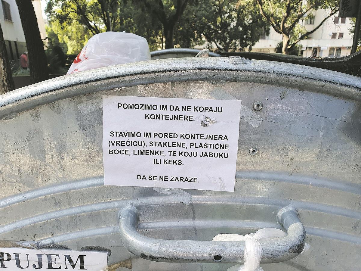 Poruka na kontejneru