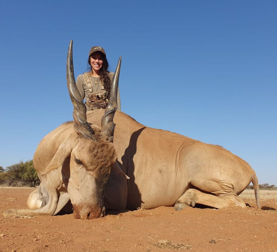 Kate hunted an eland bull in South Africa. IDAHO, USA: THIS NURSE receives thousands of death threats online and has even had sickos threaten to RAPE AND MURDER her baby daughter but continues to defy the trolls to show that hunting isn't just for men by sharing her kills with her 27K Instagram followers. Registered nurse, Kate Small (29) from Boise, Idaho, USA, was introduced to hunting by her stepdad 10 years ago and instantly fell in love with it. Kate loves everything about hunting, from the adventure and strategic planning leading up to the kill which tests her strength and endurance and gives her unforgettable memories, to gutting, preserving and butchering the animal afterwards. Knowing where her food has come from is an important thing for Kate and she makes sure that she salvages as much of the animal that she can, using the meat, with the exception of wolf meat because it isn't fit for human consumption, to fill her freezer for her family to live off and uses the hide and head for mounting. Kate never kills an animal just for the fun of hunting, only killing them for conservation or food purposes. Despite this, and hunting in a completely legal and ethical way, she receives thousands of disgusting death threats from people who have threatened to rape and murder her one-year-old daughter, murder her dogs and Kate herself, which she tries her best to laugh off. As a backcountry hunter, Kate can spend days or weeks out in the field to hunt an animal and she's acquired 27K followers on her Instagram, @kate_small_outdoors. She hopes to be able to encourage other women to the sport and prove that it's not just a man's game. The largest animal Kate has ever hunted was a black bear which was over 6ft long and weighed more than 350lb but the most difficult animal to hunt is the wolf due to its heightened senses, speed and distance they can travel in a day. mediadrumworld.com / @kate_small_outdoors, Image: 470141457, License: Rights-managed, Restrictions: FBMD23000987030000493700008f44000091500000f8a8000026e000009c0e0100395601006c8c0100dfc30100, Model Release: no, Credit line: Profimedia, Media Drum World