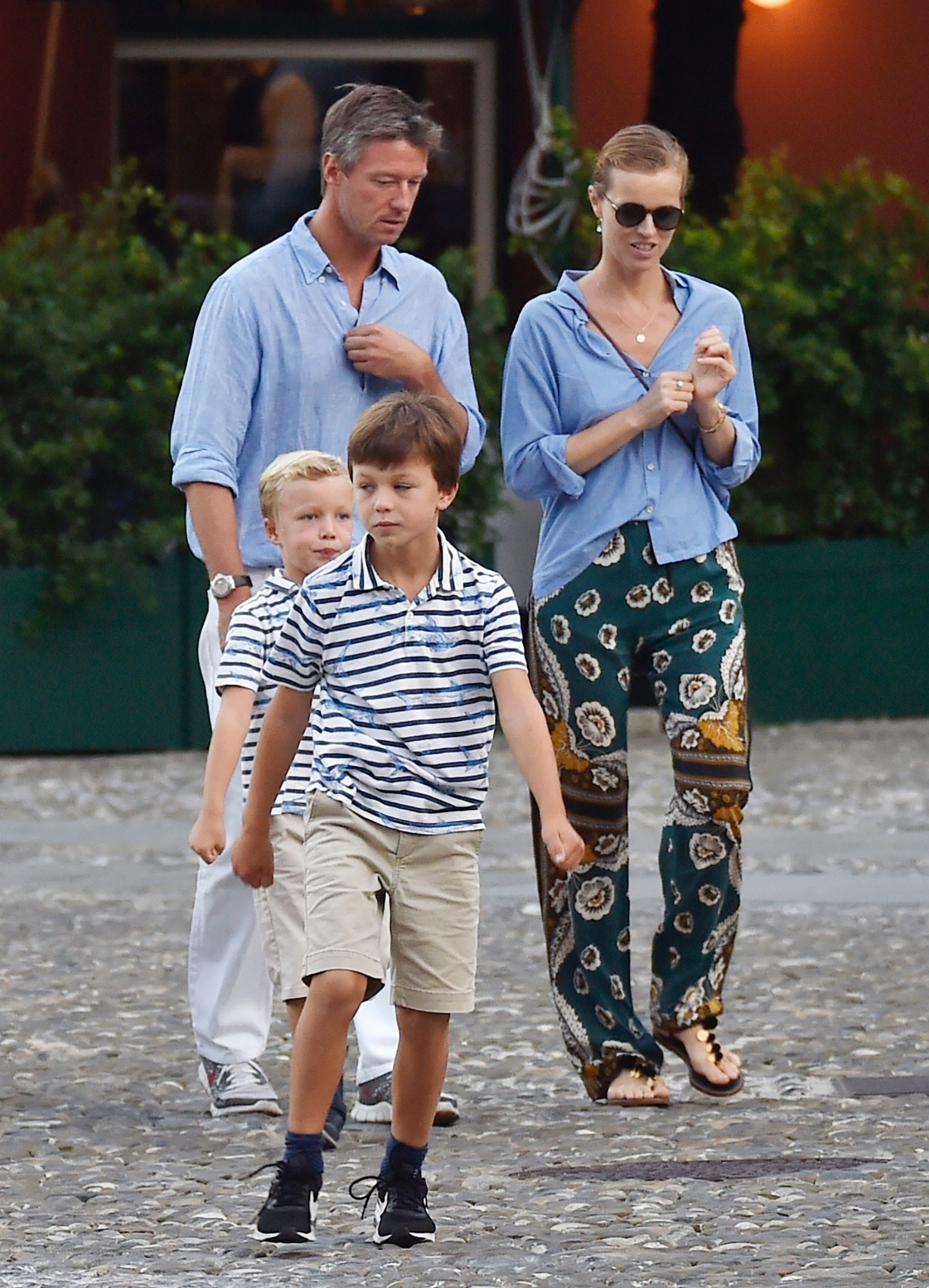portofino, ITALY  - *EXCLUSIVE*  - Model Eva Herzigova with her husband along with their children on holiday in Portofino  BACKGRID UK 13 SEPTEMBER 2019, Image: 470807270, License: Rights-managed, Restrictions: RIGHTS: NO WEB - WORLDWIDE EXCEPT IN ITALY, Model Release: no, Credit line: Profimedia, Backgrid UK
